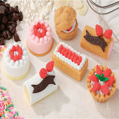 US 20Pcs Cute Food Cake  Rubber Pencil Eraser Creative Stationery Children Toy