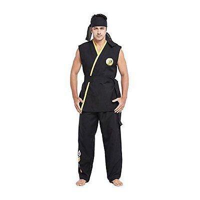 Deluxe Erwachsene Herren Straßenkämpfer Kostüm Kobra Karate Kid Kung Fu Kostüm Karate Kid Kostüm