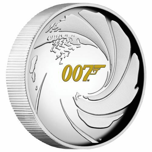 "2020-P Tuvalu ""James Bond 007"" 1oz .9999 Silver High Relief Coin"