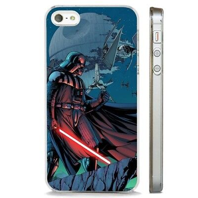 Darth Vader Death Star Wars CLEAR PHONE CASE COVER fits iPHONE 5 6 7 8 X