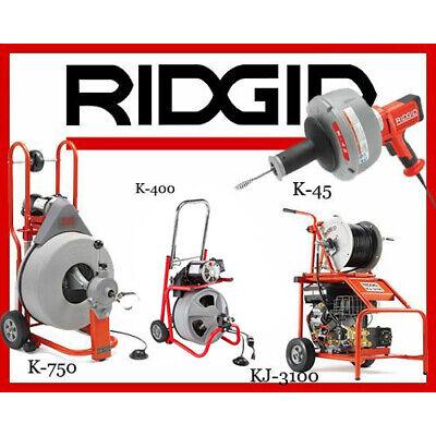 Ridgid K-750 42007 K-400 T2 52363 K-45-1 36013 Kj-3100 Jetter 37413