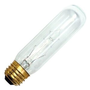 new 25w 120v t10 clear e26 medium base incandescent light. Black Bedroom Furniture Sets. Home Design Ideas