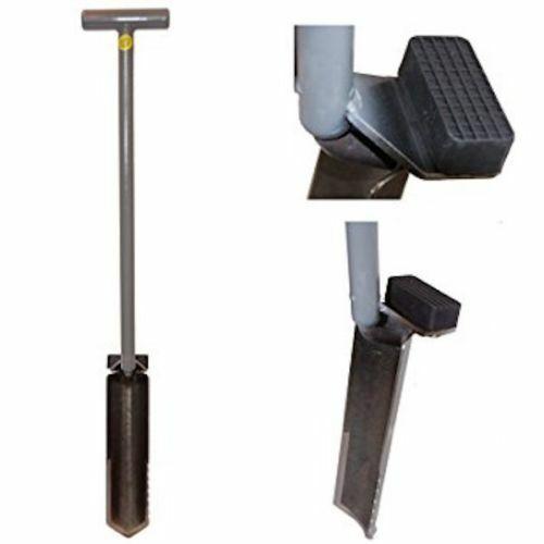 "Lesche Ground Shark 36"" Shovel w/ Serrated Blade for Metal Detecting Gardening"
