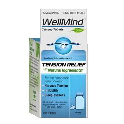 MediNatura WellMind Calming Tablets, Tension Relief, 100 Count