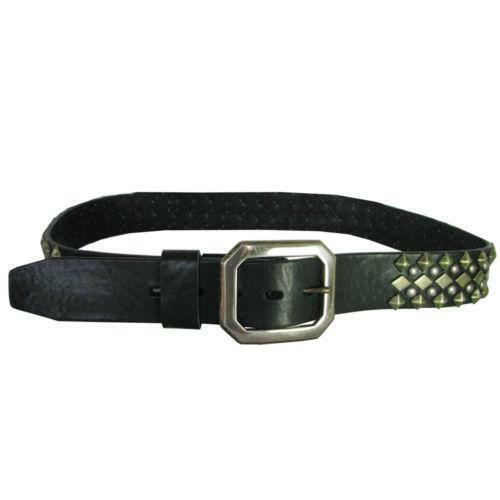 mens studded leather belt ebay