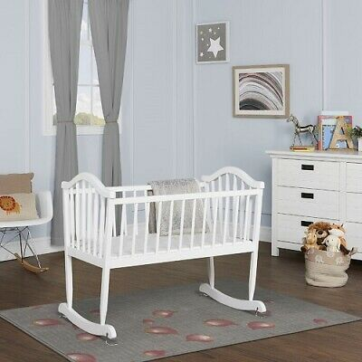 Baby Newborn Rocking Cradle Bassinet Rocker Crib Nursery Furniture Infant Wood