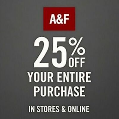 10 TEN 25% Off $75 Abercrombie Coupon Codes work sale clearance items 12/31/2020