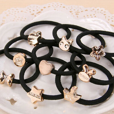 10pcs Lot Black Girl Elastic Hair Accessories Ties Band Rope Ponytail Bracelets