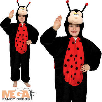 Kid's Ladybug Insect Fancy Dress Bug Ladybird Boys Girls Childs Costume Outfit