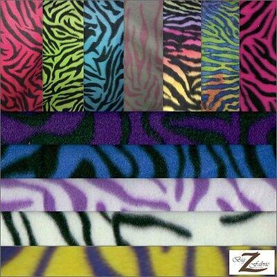 Fabric 30 Yard Bolt - ZEBRA ANIMAL POLAR FLEECE FABRIC BY THE ROLL-30 YARD BOLT WHOLESALE BLANKET