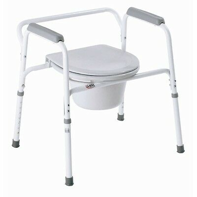Bedside Steel Commode B35711 Bathroom Toilet Seat Safety ...