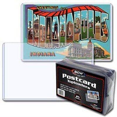 (25) BCW Regular Size Postcard Toploaders Topload Holders Rigid Archival Safe