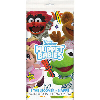 MUPPET BABIES PLASTIC TABLE COVER ~Baby Shower 1st Birthday Party Supplies
