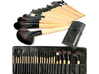 Professional 24pcs Natural Wooden Handle Cosmetic Makeup Brush Kit Set with Case