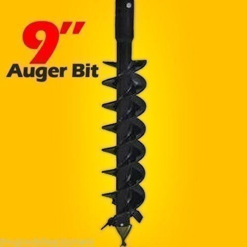 "9"" x 48"" Auger Bit For Mini Skid Steer Auger Drive w/ 2.5"" Round Drive,Fits Most"