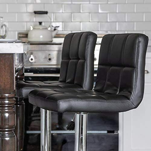 Counter Height Bar Stools Set Leather Swivel BarStools for Kitchen Chair Benches, Stools & Bar Stools