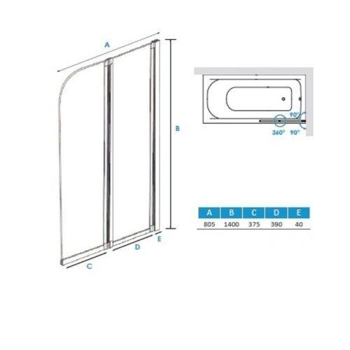 Duschtrennwand Glas : Badewannenfaltwand Duschtrennwand Duschabtrennung Duschkabine GLAS 2