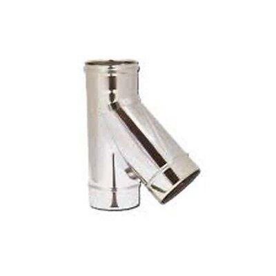 Raccordo Braga Y 135° in acciaio inox per canna fumaria 5/10 -TUTTE LE MISURE