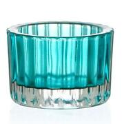 Blue Glass Tea Light Holders