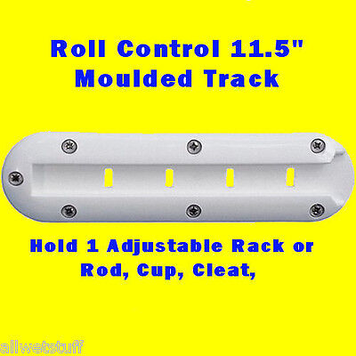 "Roll Control Molded Track Bar 11.5""  Scuba Tank Rack Adjustable Rod Cup holder"