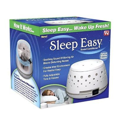Sleep Easy Sound Conditioner White Noise Machine Baby Therapy College Dorm VALUE