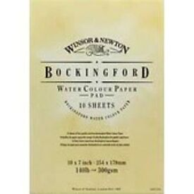 Windsor & Newton 20'x15' Bockingford Watercolour Paper Gummed Pad 9 large pages 300grm