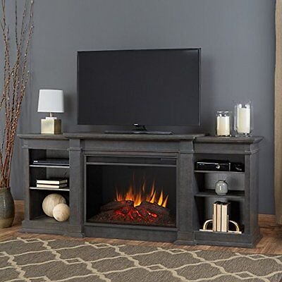 Real Flame Eliot Grand Entertainment Center Electric Fireplace Antique Gray NEW