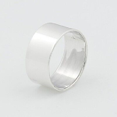 Midi silver ring knuckle design genuine 925 sterling  8mm wide size 4us 5us  new