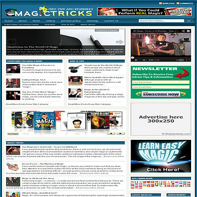 Established Magic Tricks Affiliate Website Turnkey Business Free Hosting