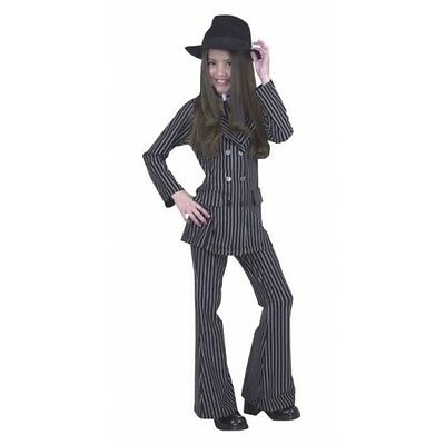 Gangster Moll Suit Pinstripe 20s Mob Dress Up Halloween Child Costume 2 COLORS - Moll Suit