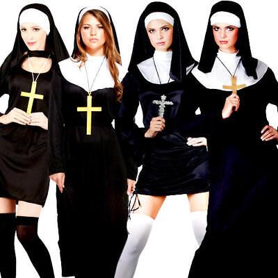 Sister Nun Ladies Fancy Dress Religious Holy Saints & Sinners Womens - Saint Sinner Kostüm