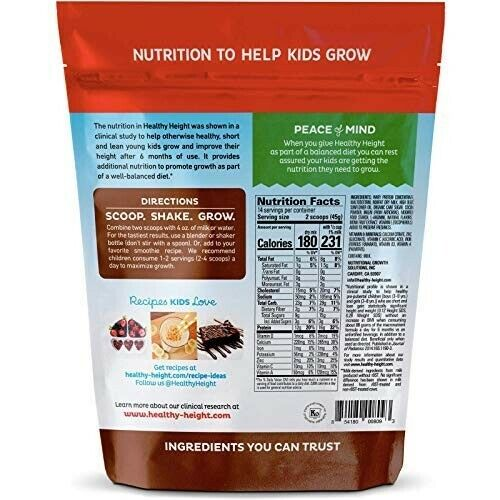 Healthy Height Kids..Protein Powder''Chocolate'_Developed by.//Pediatricians..