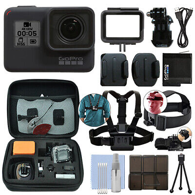 GoPro HERO7 Black 12 MP Waterproof 4K Camera Camcorder + Ultimate Action - 12 Mp Black Camera
