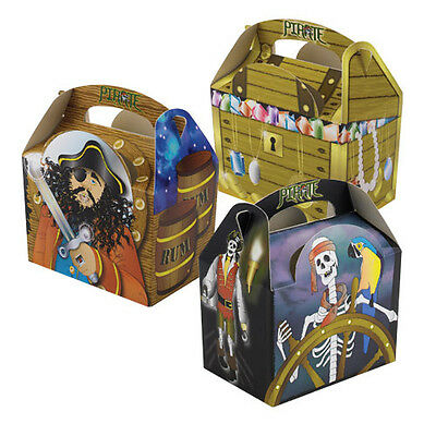 8 Piraten Captain Hook Geburtstagsparty Tasche Boxen ~ Kinder Snack Essen ()
