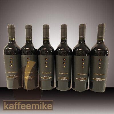 Primitivo Puglia Luccarelli Rotwein 6 x 0,75l Rotwein trocken 13,5 % Vol.