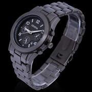 Mens Black Stainless Steel Watch