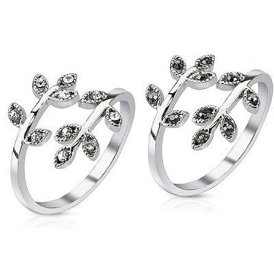 Damenring Messing Ringe Gliederinge Fingerspitzenring Zrikonia Kristall Blätter online kaufen