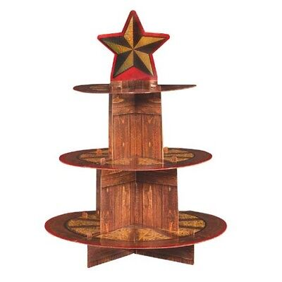 WESTERN Yeehaw 3-TIERED CUPCAKE STAND ~ Birthday Party Supplies Country Decor (Country Western Decorations)