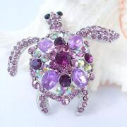 Rhinestone Turtle Pin