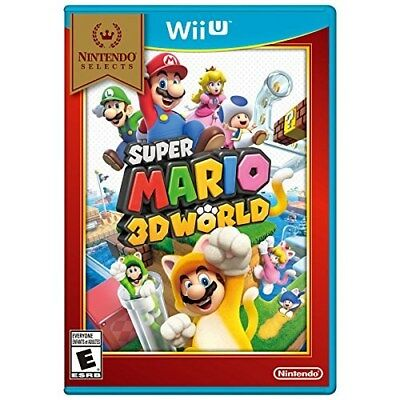 WII U GAME SUPER MARIO 3D WORLD NINTENDO SELECTS WIIU BRAND NEW AND SEALED