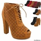 Green Ankle Boots Chunky for Women