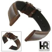 22mm Brown Leather Watch Band