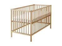 Ikea SNIGLAR cot with mattress