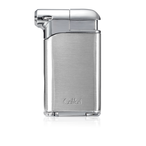 New Colibri Pacific Air Pipe Lighter Soft Flame in Chrome &