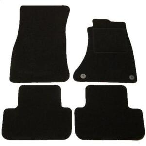 audi a4 tailored car mats 08 onwards black ebay. Black Bedroom Furniture Sets. Home Design Ideas