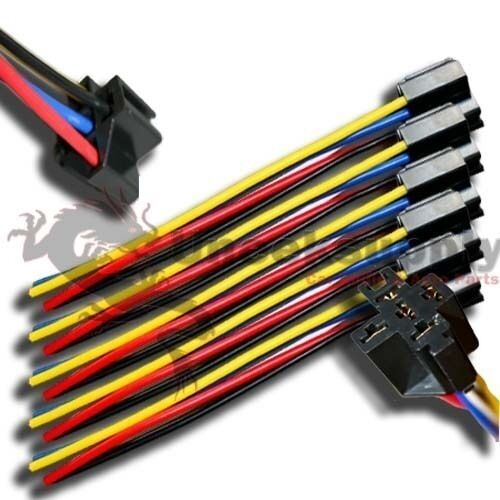 CAR ELECTRONICS 5 WIRE SOCKET HARNESS RELAY FOR HID 12V RELAY 5 PINS PLUG x 10