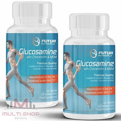 Glucosamin Komplex Tabletten (GLUCOSAMIN CHONDROITIN MSM Komplex 240 Tabletten - Top Super Gelenkschutz Flex)