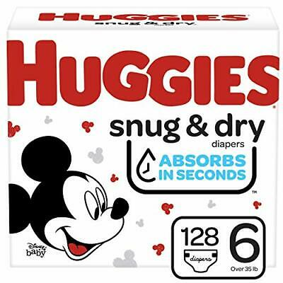 Huggies Snug & Dry Baby Diapers, Size 6, One Month Supply, 128 Count 🔱