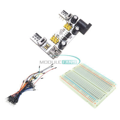 Mini Solderless Breadboard 400 Mb102 Power Supply Module 65pcs Jump Cable Wires