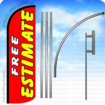 Free Estimate - Windless Swooper Flag Kit Feather Banner Sign 15 Rq